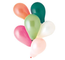 Party Balloons Assorted Colors