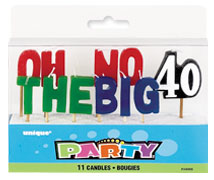 34068 Oh-No The Big 40 Pick Candles