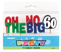 34070 Oh No- The Big 60 Pick Candles