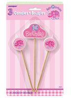 First Birthday Ladybug Canbdles Set