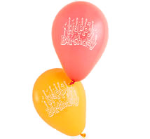 Happy Birhtday Balloons
