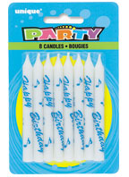 1951 Birthday Printed Candles Blue