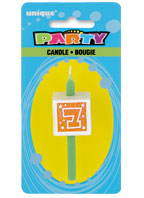 34037 Numeral 7 Glitter Block Candle