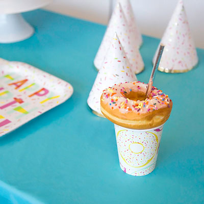 Donut Party Ideas - Party Cup