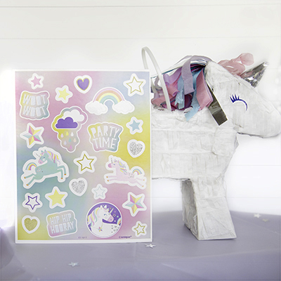 Unicorn Pinata and Unicorn Stickers