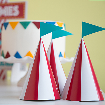 Circus Party Ideas - Circus Party Hats