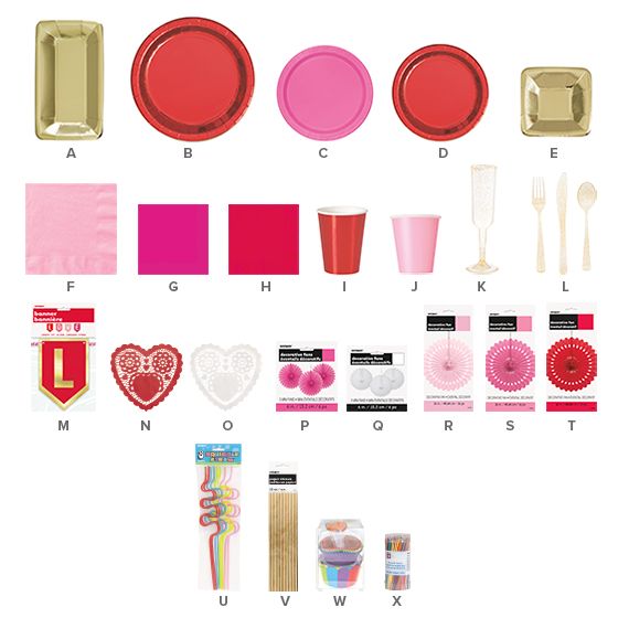 Valentine's Day Party Supplies - Galentine's Day Party Ideas