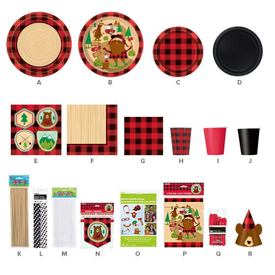 Buffalo Plaid Party Supplies - Lumberjack Party Ideas