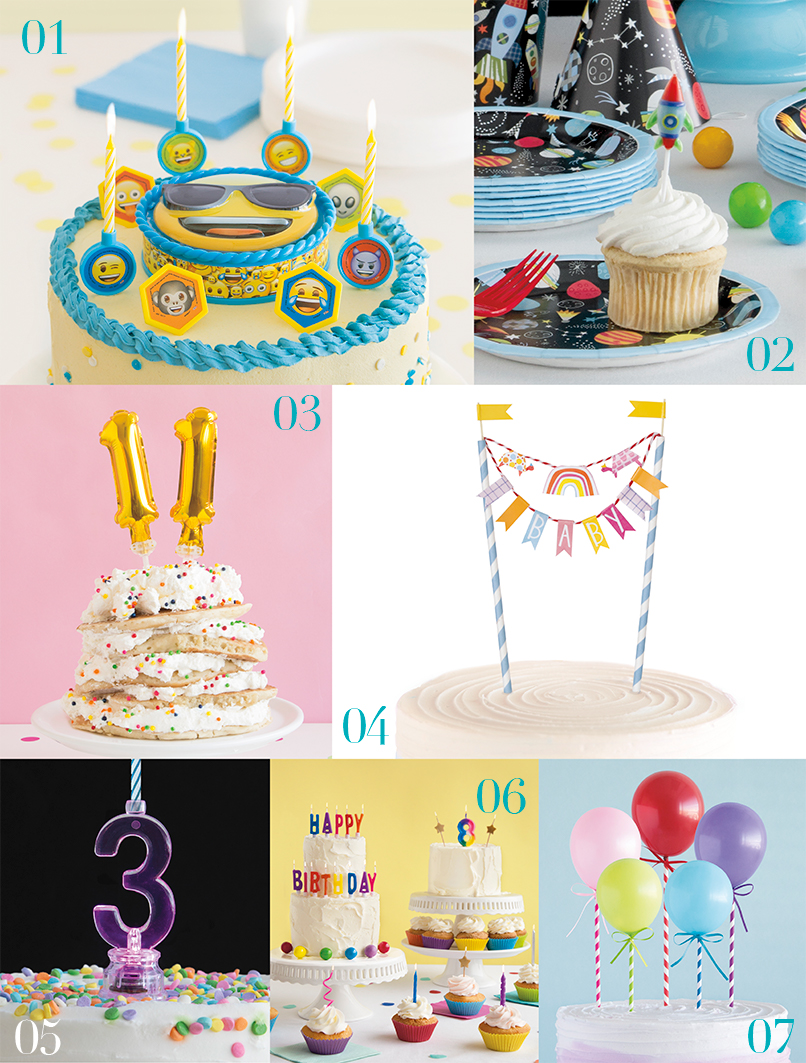 Birthday Candles & Cake Toppers