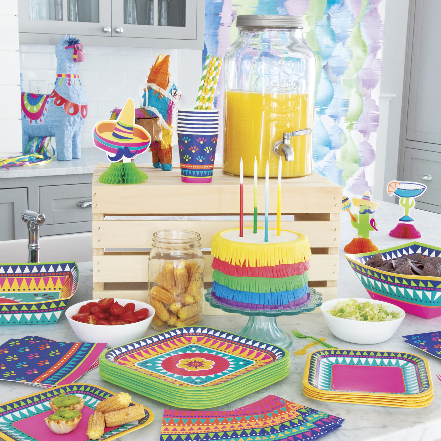 Boho Fiesta Party Supplies - Taco Party Ideas