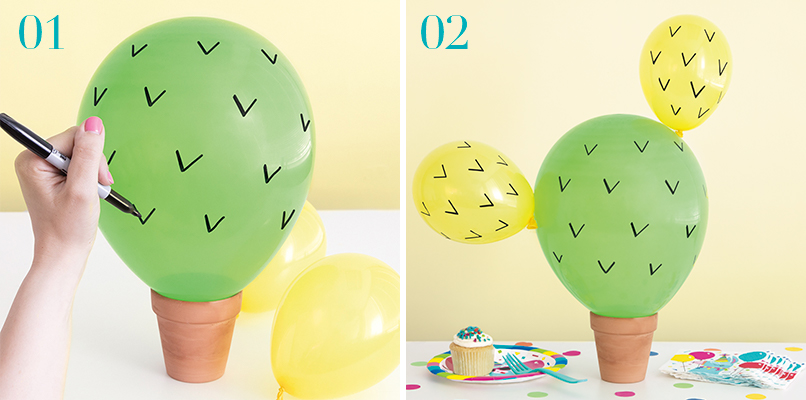 Catcus Balloon - Llama Party Ideas - Llama Party Supplies