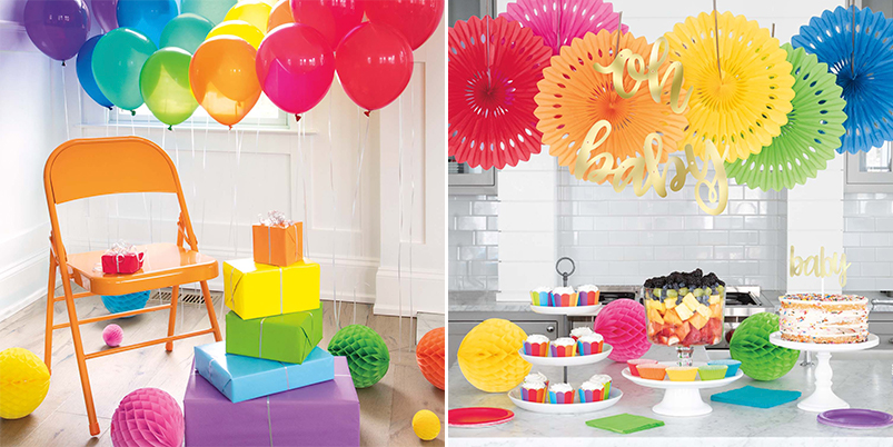 Rainbow Party Supplies - Rainbow Baby Shower Ideas