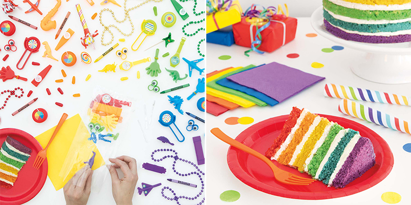 Rainbow Birthday Party Supplies - Rainbow Party Ideas