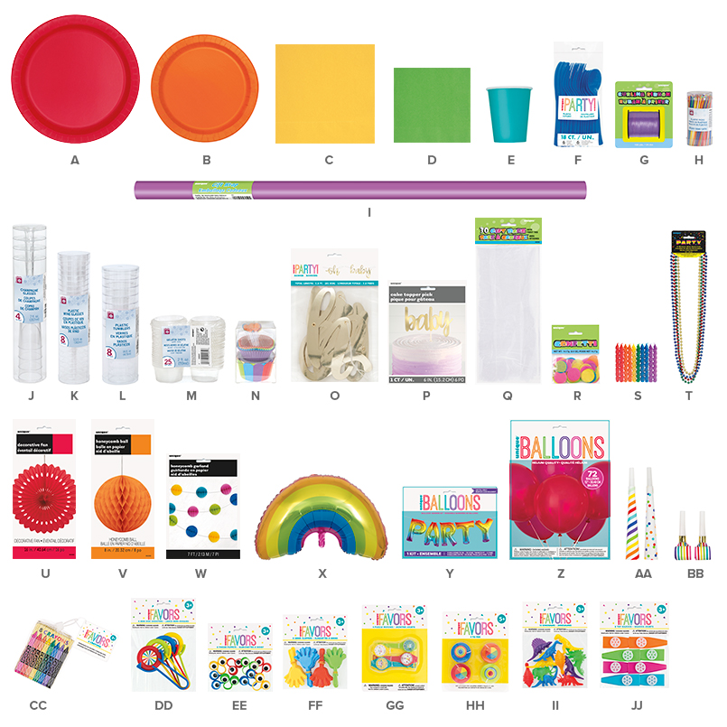 Rainbow Party Supplies - Rainbow Party Ideas