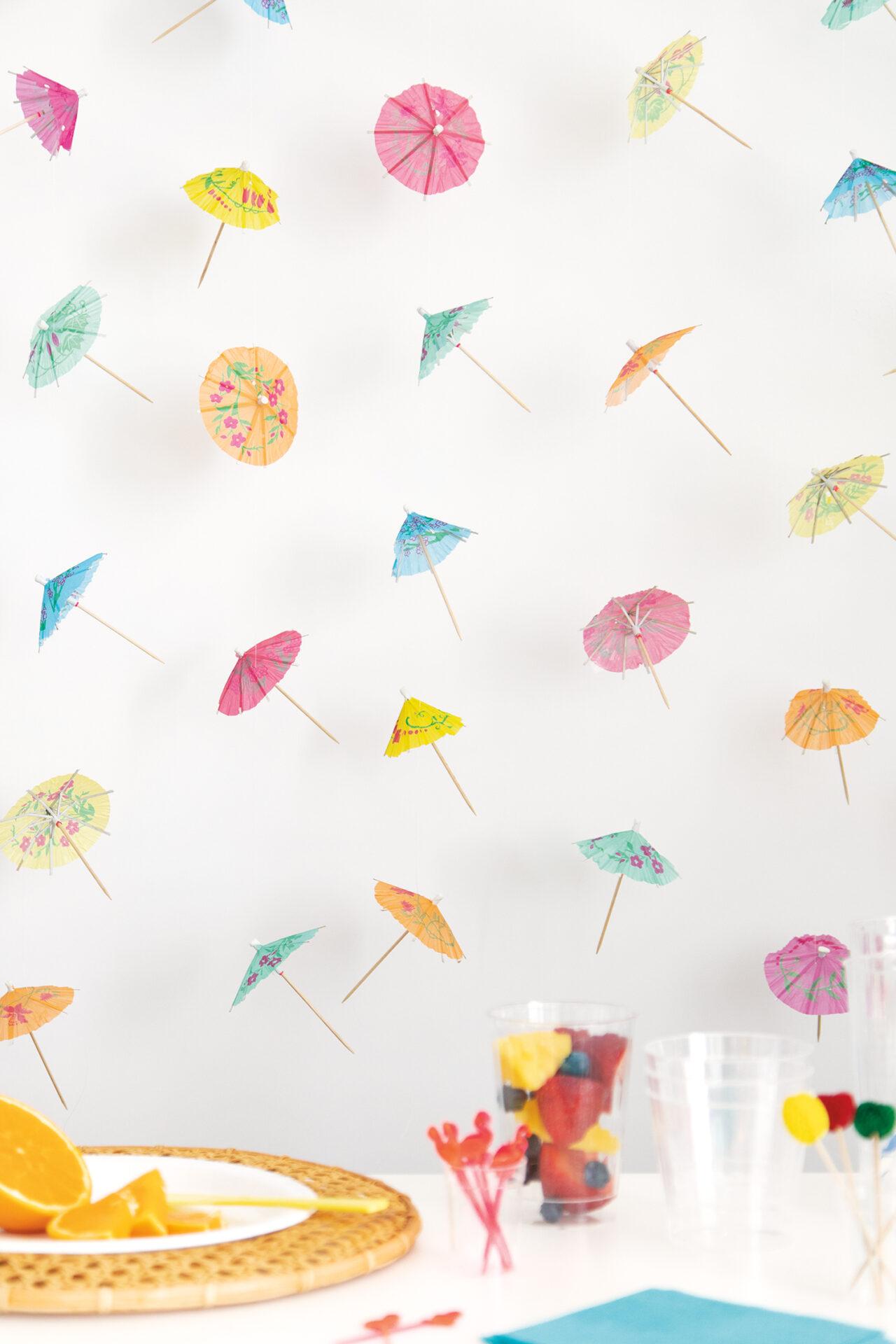 Drink Umbrella Party Backdrop - Summer Party Ideas
