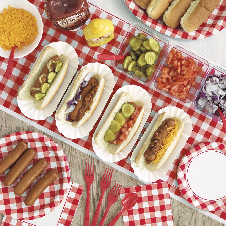 Hot Dog Buffet - I DO BBQ Party Ideas