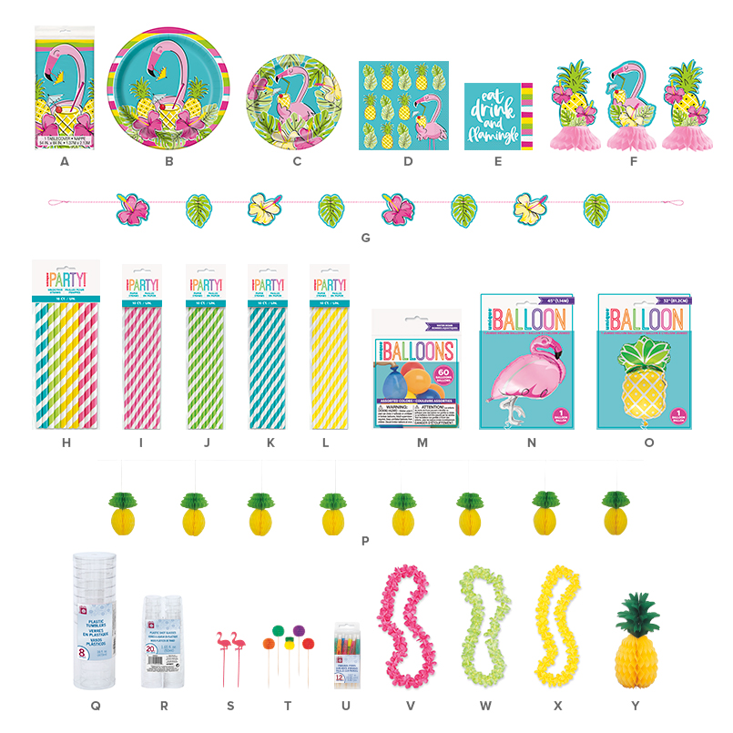 Pineapple Flamingo Party Supplies – Summer Party Ideas