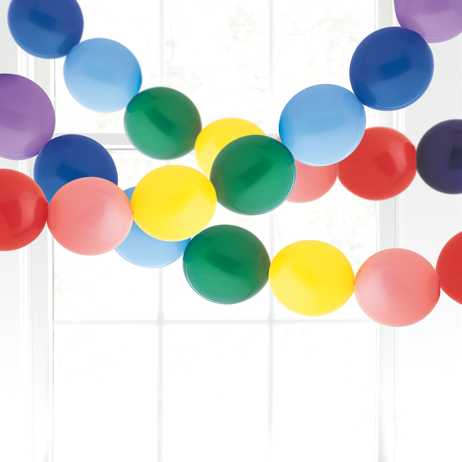 Rainbow Linking Balloons – Non-Helium Balloon Decorating Ideas