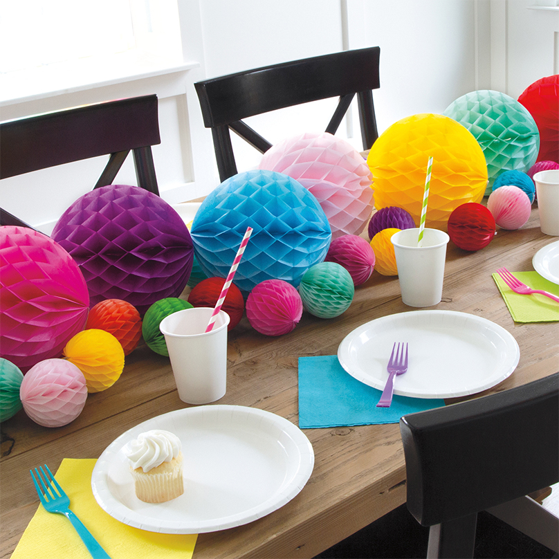 Tissue Paper Centerpiece - DIY Party Decoration Ideas